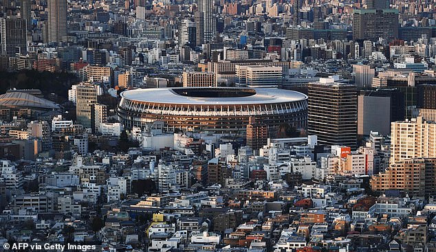 The £9.6billion bill for the Olympics including huge taxpayer spending on a new national stadium in Tokyo (pictured) would be regarded as wasted if the Games are cancelled