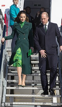 Kate's green dress this year follows in the tradition of wearing the national colour on royal tours