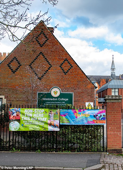 Wimbledon College, in south-west London, shut its doors yesterday because of the coronavirus