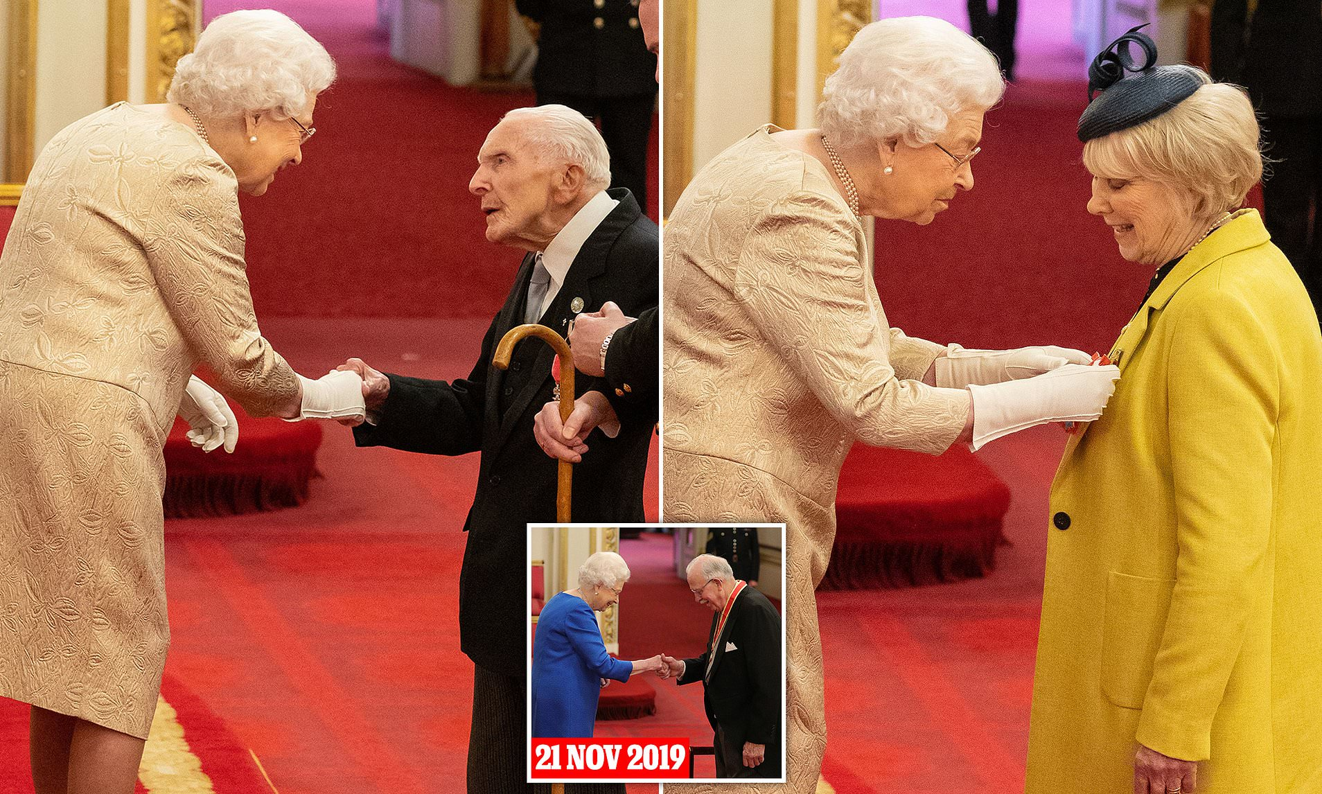 Coronavirus: The Queen wears gloves at investiture ceremony ...