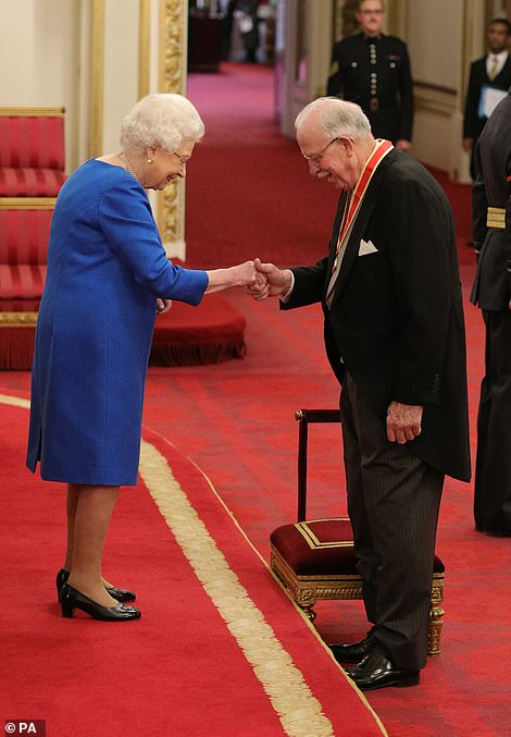 Sir Archibald Tunnock from Uddingston is made a Knight Bachelor by Queen Elizabeth II, during an investiture ceremony at Buckingham Palace in London in November 2019