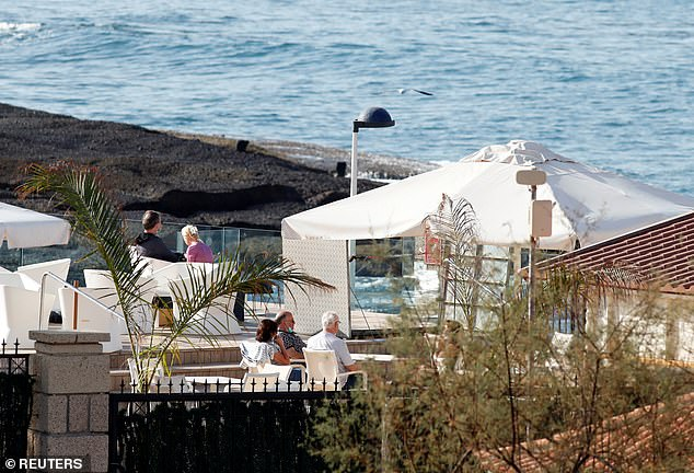 It comes following news that a British woman tested positive for coronavirus at the Tenerife hotel (pictured) where hundreds of tourists were placed in quarantine last week