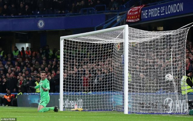 Adrian was at fault for Chelsea's opening goal of the game as he spilled a routine straight shot from Willian