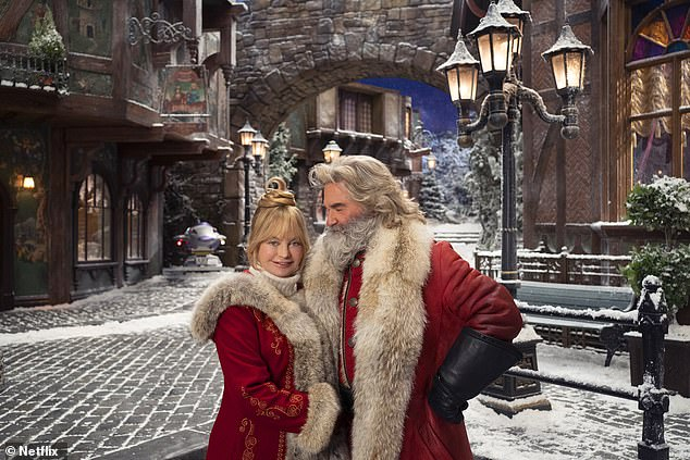 'I'm still ringing Santa's jingle bells!' On February 5, Hawn and her partner Kurt Russell (R) wrapped their roles as Santa Claus and Mrs. Claus in Chris Columbus' sequel to Netflix's 2018 festive flick The Christmas Chronicles