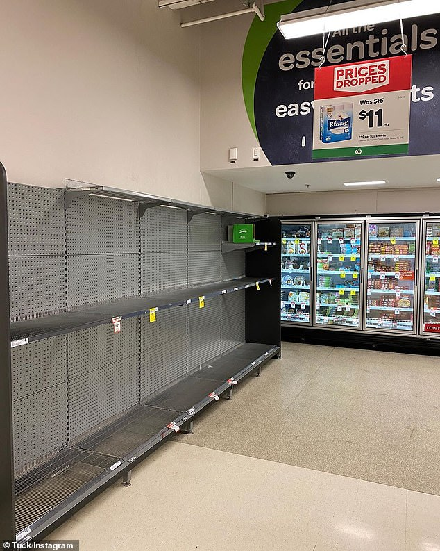 Supermarket shelves have been left bare following information people should have a two-week supply of food
