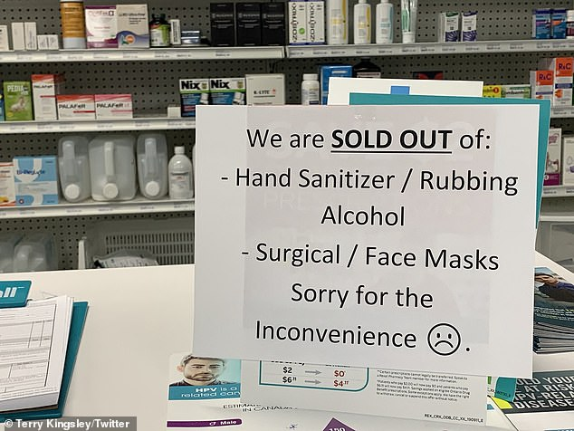 Some pharmacies have sold out of popular hygiene products used