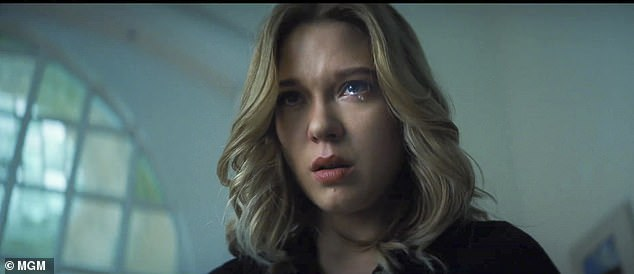 Thrown into chaos: Producers are said to have discussed plans about bringing the movie forward due to their 'concerns' over the virus (Léa Seydoux as Dr. Madeleine Swann)