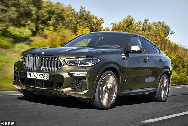 Pictured: BMW X6 M50d. The new BMW was given a 'superior' rating by the Thatcham report