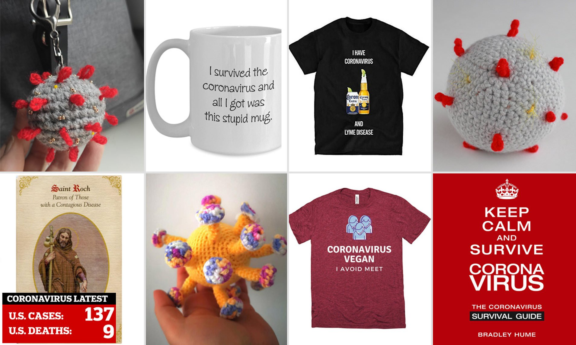 Amazon and Etsy is flooded with coronavirus merchandise | Daily ...