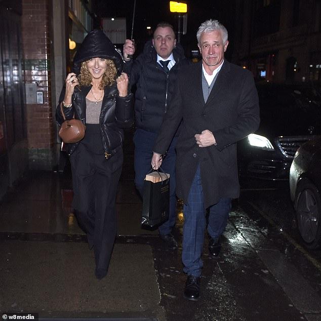 Pals: Kelly Hoppen and her partner John Gardiner also attended Ronan's birthday bash