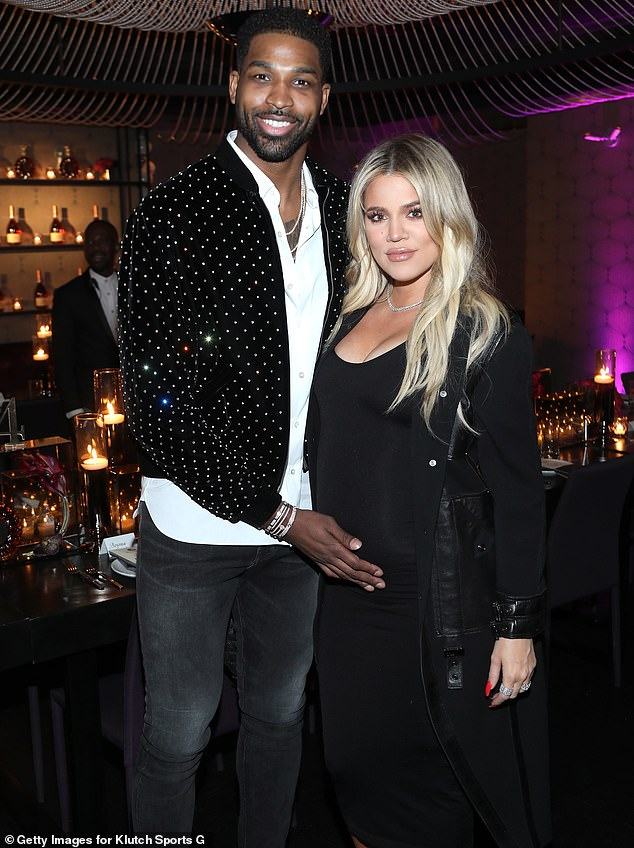 Forgiving family: Khloé said she'd forgiven Tristan in December, and Us Weekly reported last month that her family had 'forgiven Tristan in some regards'; pictured in 2018