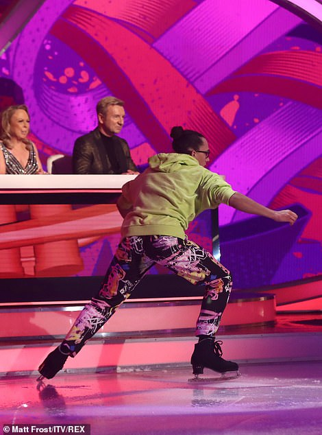 Daring: It received a sweep of 10s from the judges with Ashley commenting that he had 'guts' to do it live on TV