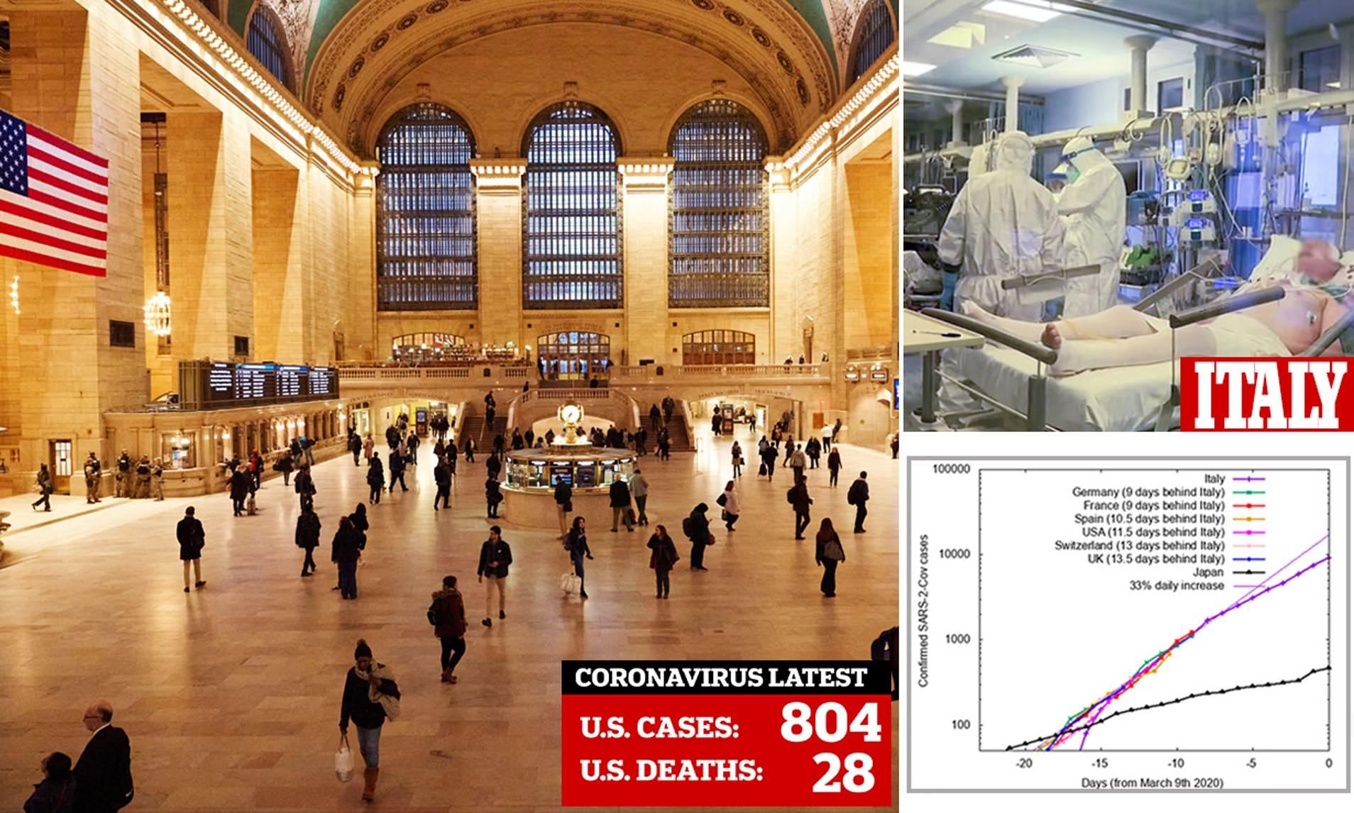 Coronavirus US: Outbreak following same trajectory as Italy ...