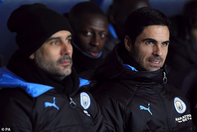 Arteta was Guardiola's right-hand man as assistant coach from July 2016 until December 2019