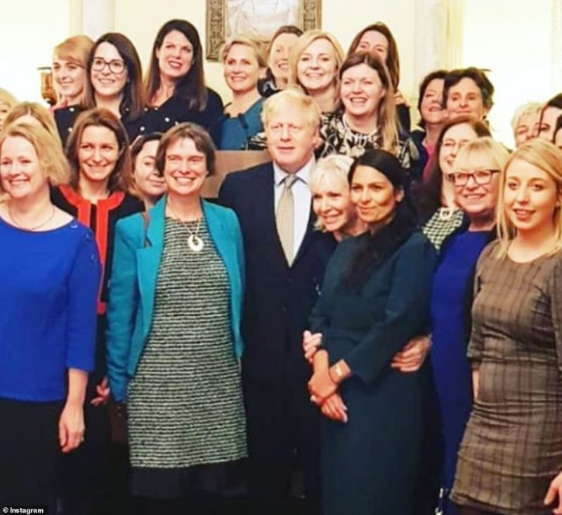 Nadine Dorries was with Boris Johnson and Home Secretary Priti Patel at Downing Street on January 8, before she contracted the illness