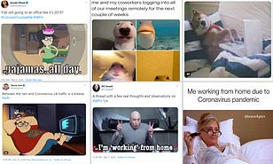 People share hilarious working from home memes while off due to ...