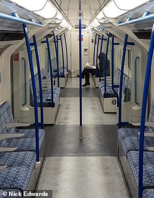 One person sat in a cartridge on the Victoria line