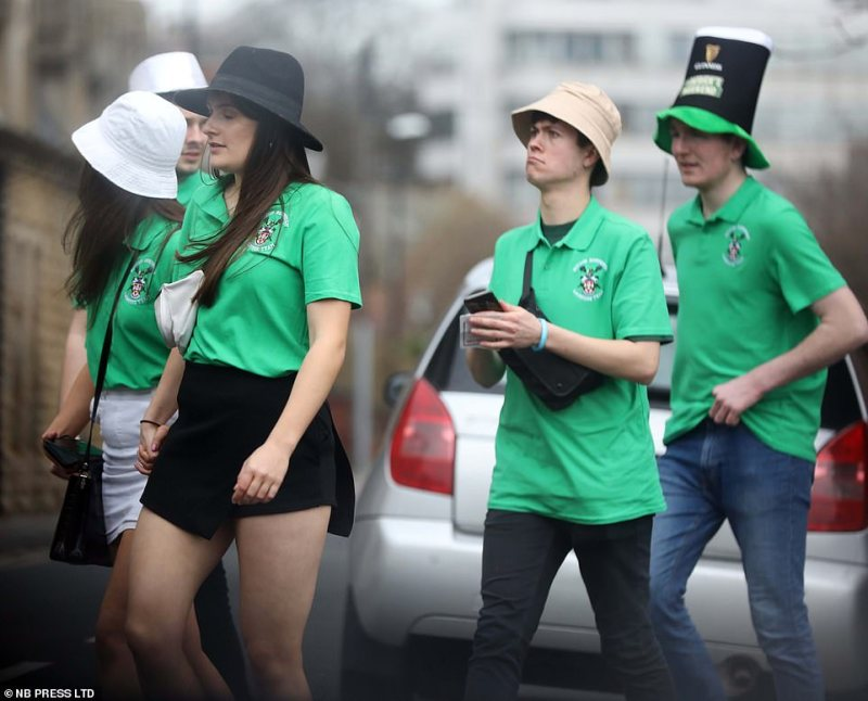 Students wear skimpy outfits as they enjoy the annual celebrations, putting coronavirus fears aside