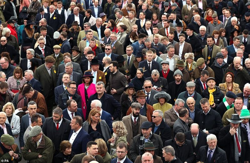 Cheltenham Races also drew its usual large crowds as 70,000 people turned out during the four day festival