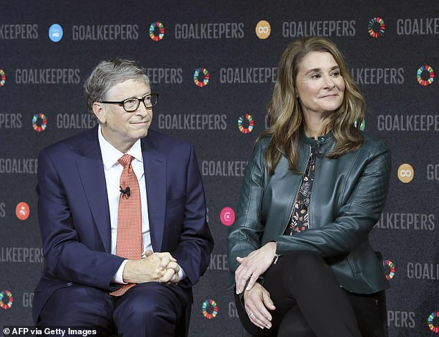 'People are working on models that match what we are seeing more closely and they will become a key tool.' One such group — the Institute for Disease Modeling — receives funding from the Bill and Melinda Gates Foundation. Pictured, Bill and Melinda gates (file photo)