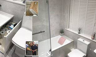 Savvy Homeowner Creates Clever Storage Space Under Her Bath Daily Mail Online