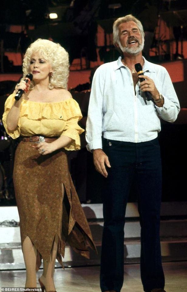 Legends:Over the years, Rogers worked often with female duet partners, most memorably, Dolly Parton, as they are seen together in 1983