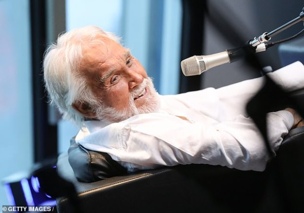 Retirement: Rogers pictured at SiriusXM in Nashville back in June 2017 around the time of the end of his career on stage after 60 years