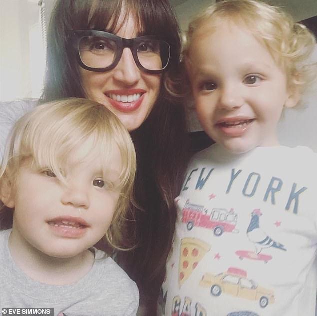 Katy Walton from Bath, pictured, is self isolating with her two sets of twin sons, two of whom