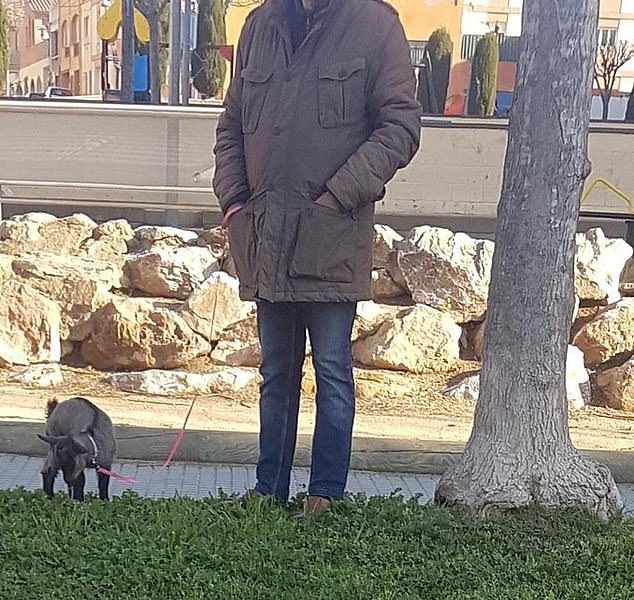 Meanwhile one man in Spain decided to flout the rules and take his pet goat for a walk outside