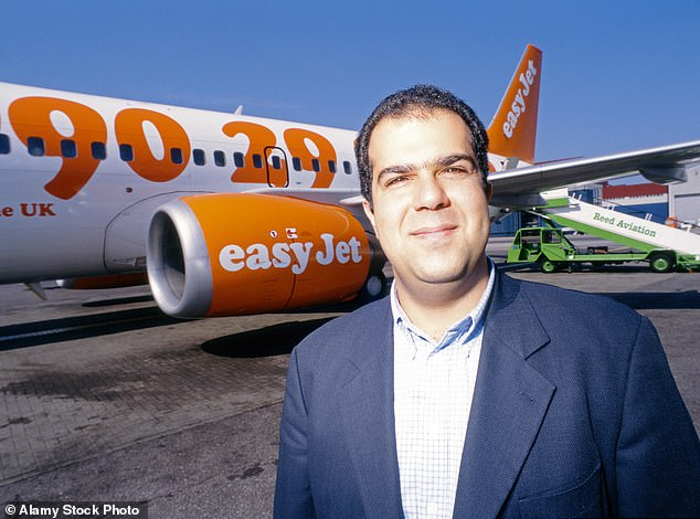 The billionaire founder of easyJet Sir Stelios Haji-Ioannou (pictured) was awarded a£60million dividend from the ailing business this month