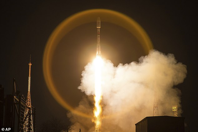 The 34 satellites were launched from Baikonur on a Soyuz rocket. It's the third launch of OneWeb satellites - they plan to have 650 in orbit