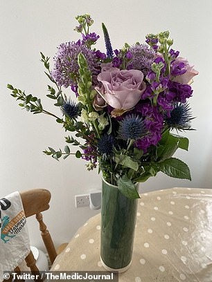 Flowers for NHS workers