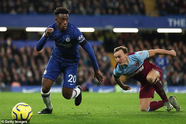 Chelsea winger Callum Hudson-Odoi (left) entered the top five most valuable young players