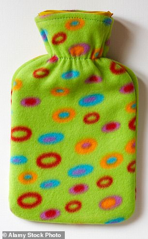 If you can't buy painkillers, applying heat via a hot water bottle, for example, may give localised pain relief for muscular aches (stock picture)