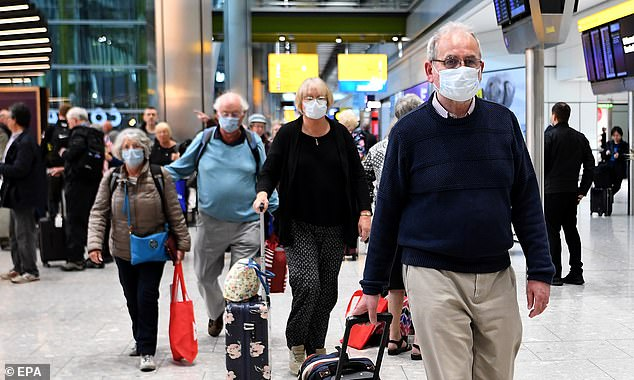 British tourists who were aboard the cruise ship Braemar arrive back in UK from Cuba at Heathrow Airport in London last Thursday