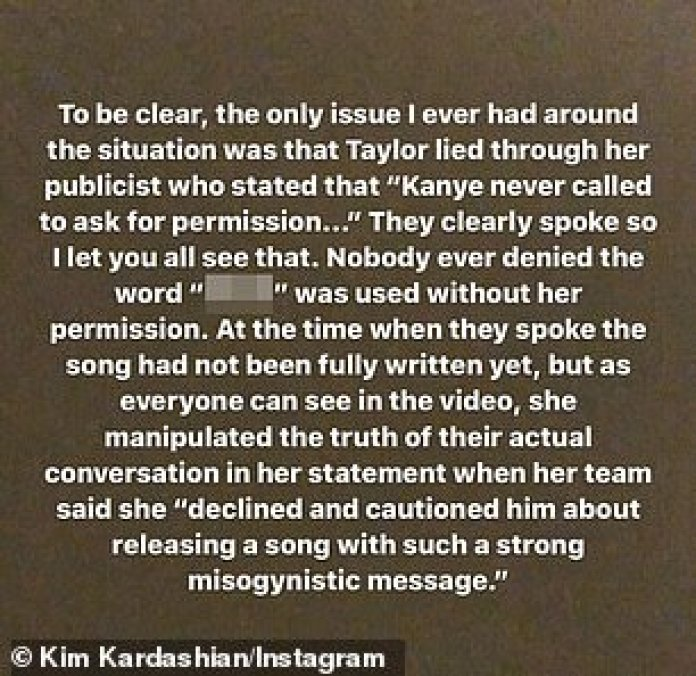 Exponiendo su caso: Kim explicó su lado del problema a través de las redes sociales