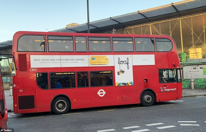 """Robert Tay, from Romford, took a picture of a packed London bus with people stood on the bottom and top decks this morning and said: '@BorisJohnson @TfL @MayorofLondon @SadiqKhan Are you seriously telling me this is a bus full of """"key workers""""?'"""