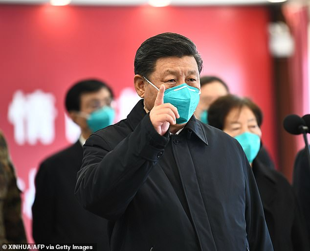 China also had a history of anti-Americanism, beginning with the general disdain for foreigners in the early 19th century. Pictured:Chinese President Xi Jinping