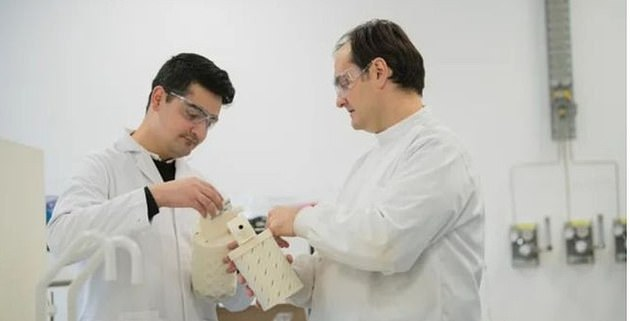 Dr Sterghios Moschos, right, said the test could be used to produce results in minutes