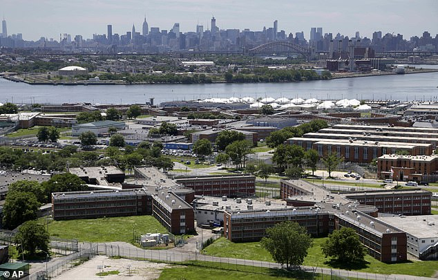 Prison complex on Rikers Island, New York, where Harvey Weinstein is believed to have captured the coronavirus. It is feared that U.S. prisons may become a breeding ground for the virus
