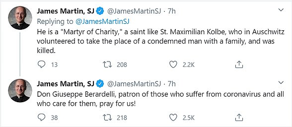 James Martin, an American Jesuit priest and a Vatican consultation, revealed on Twitter the news of Berardelli's death, praising him as a