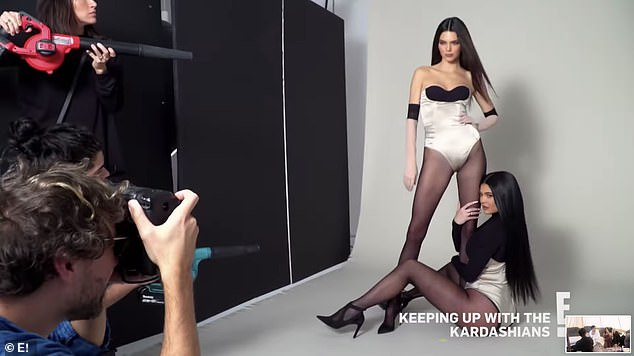 Strike a pose: Kendall and Kylie Jenner are seen in model mode