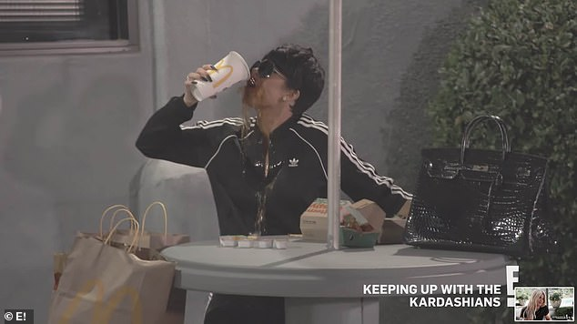 Plan: She decides to dress up as family matriarch Kris Jenner, as seen here