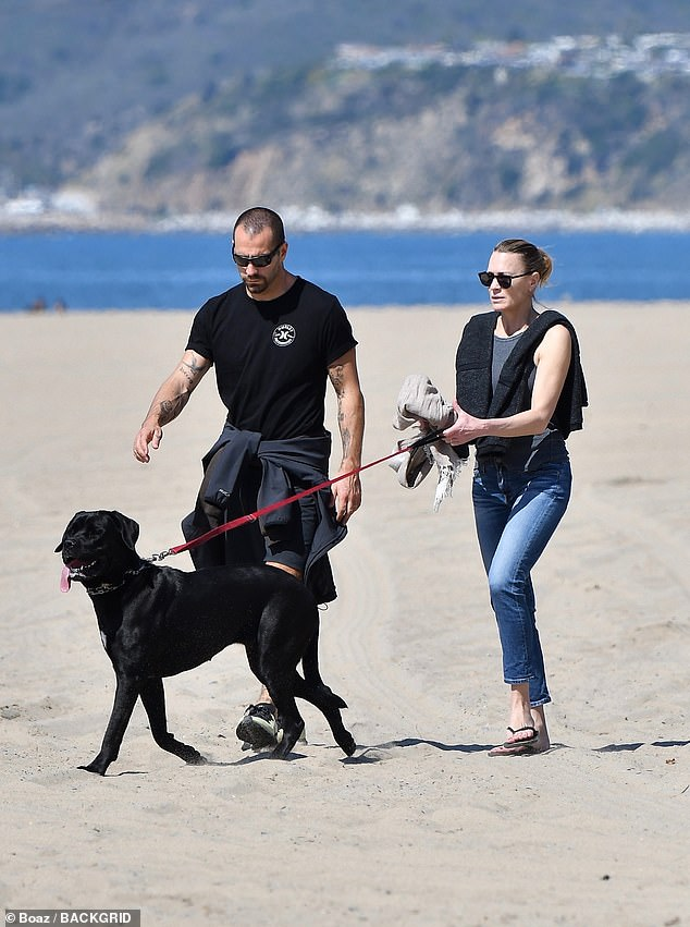 Locking down:The couple's outing comes after the mayor of Los Angeles closed beach parking lots and the city's numerous parks following mass gatherings of residents
