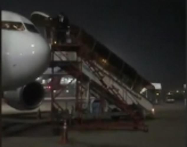 The AirAsia pilots climbed out of the window and onto a set of stairs in New Dehli, India, thereby avoiding the rest of the passengers and crew onboard the plane