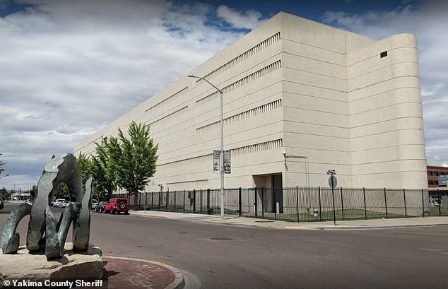 Sheriff Udell said the inmates were able to escape the Yakima County Jail (pictured) by breaking open an exterior fire door using a table from inside the annex