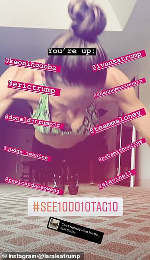 Going viral: To complete the challenge, people have to share videos of themselves doing 10 pushups and tag 10 friends to follow suit