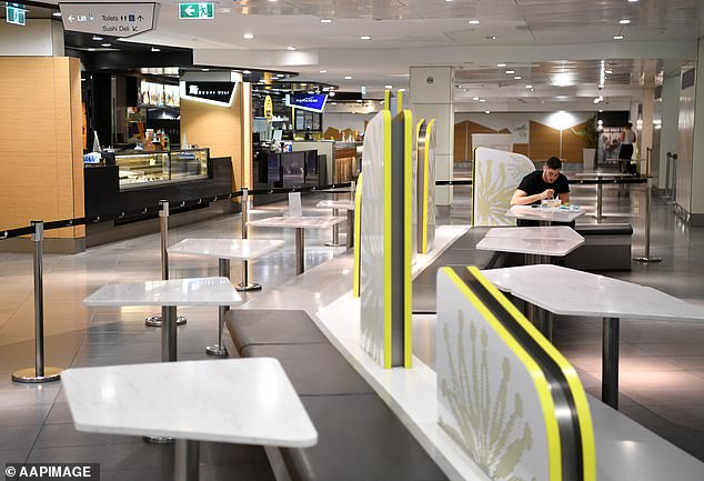 Food courts inside shopping centres will be closed for dine in customers - but will be able to offer takeaway options