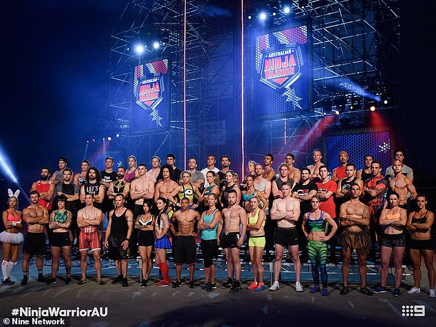 Going ahead:Australian Ninja Warrior is nearing the end of its filming schedule with a reduced audience of the contestants' close family and friends only