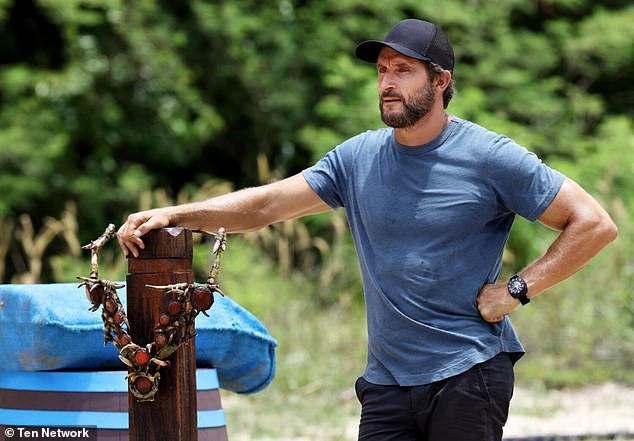 No more:Ten have also suspended Five Bedrooms and cancelled the new Survivor (pictured, hostJonathan LaPaglia), which was due to air later this year